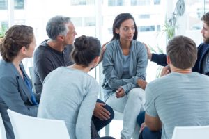 group therapy at addiction recovery center